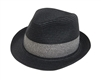 wholesale straw fedora  tweed block band