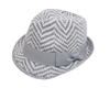 Wholesale Fall Winter Fedora - Chevron Pattern
