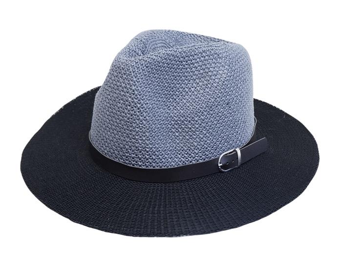 bea42e657f 8037 2-Tone Knitted Panama Hat