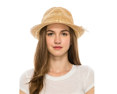 wholesale straw hats handwoven summer fedora hat