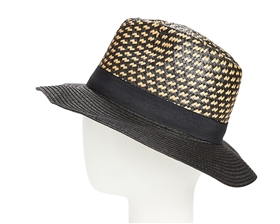 Wholesale Straw Panama Hats - Handwoven Crown