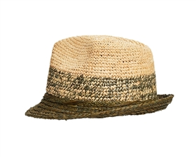 Wholesale Organic Raffia Straw Hats - Summer Fedora