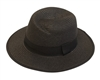 Black Wholesale Panama Hats - Straw Hat Jazzy Design