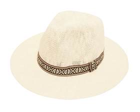 Wholesale Panama Hats Knit with Tribal Band