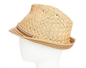 wholesale straw fedora hats handwoven womens beach hat