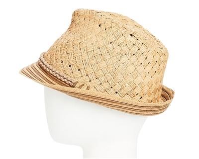 6dbb2b9c6820e4 Wholesale Straw Fedora Hats - Handwoven Striped Brim Hat