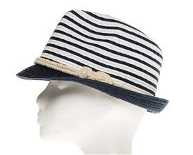 Wholesale Nautcial Straw Fedora Hats - Summer Fedoras