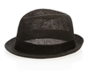 Wholesale Straw Fedora Hats - Knitted Toyo Mens Womens Hat