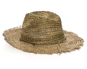 wholesale seagrass straw hats - crochet women's safari hat
