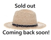 Wholesale Raffia Straw Panama Hats - Fringe Band