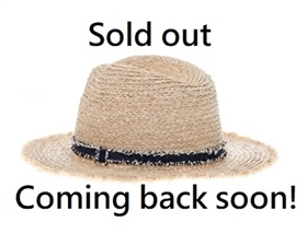Wholesale Womens Straw Panama Hats - Raffia Beach Hat with Fringe and Band