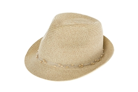 Wholesale Straw Fedora Hats - Girls Summer Beach HatHats