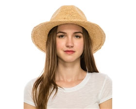 Wholesale Fine Raffia Straw Hats - Crochet Panama Hat