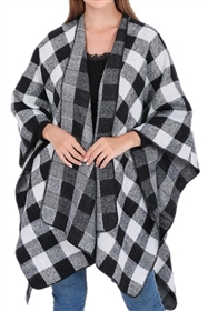 Wholesale Buffalo Plaid Ponchos