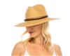 wholesale beach hats - Straw Panama w/ Leather Band