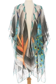 wholesale Peacock + Bird of Paradise Kimono