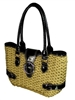 wholesale twisted toyo handbag  patent vinyl