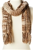 wholesale blanket scarves - striped tweed scarf