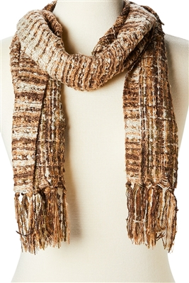 wholesale blanket scarves - striped tweed scarf bulk buy