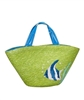 wholesale straw beach tote bags - tropical fish