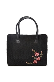 bulk crochet handbag w/ flower