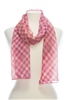 wholesale summer scarves - harlequin print