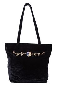 wholesale vintage tote bags - bulk velvet purses embroidered