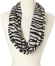 wholesale infinity scarves zebra print black red