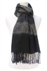 wholesale black scarves wide stripes shawl
