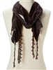 wholesale fringe scarf  rose embroidery
