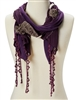 wholesale fringe scarf with rose embroidery