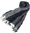 wholesale crinkly boho striped scarf