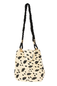 wholesale Dalmatian Straw Handbag