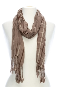 wholesale grid pattern viscose scarf or shawl