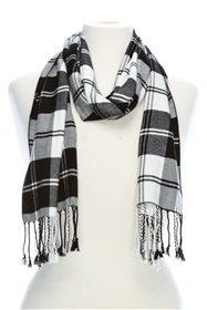 wholesale unisex scarves soft viscose plaid scarf