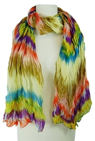 wholesale painted rainbow scarf and sarong