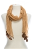 wholesale summer scarf with dangles