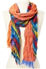wholesale wavy stripe multicolor scarf