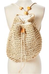 wholesale backback straw crochet sling bag