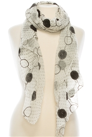 wholesale circles and polka dots scarf