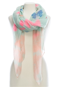 wholesale scarves summer butterfly print scarf