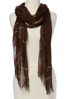 wholesale soft viscose scarf w/ metallic outline