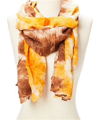 wholesale tie-dyed crinkle scarf one dozen