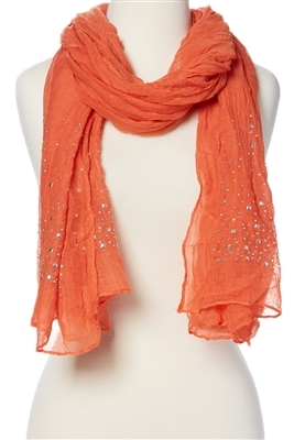 wholesale crinkle scarf with studs