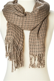 bulk brown scarves - soft winter scarf wholesale