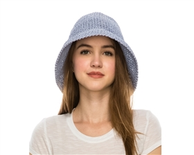 bulk womens hats - crochet straw bucket hats wholesale