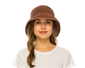 bulk straw womens hats - crochet straw bucket hats wholesale