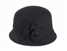 wholesale felt cloche  rosette