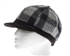 wholesale womens cap - plaid winter cabbie hat
