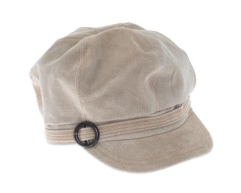 573d0be9815812 9807-88 Genuine Leather Newsboy Cap